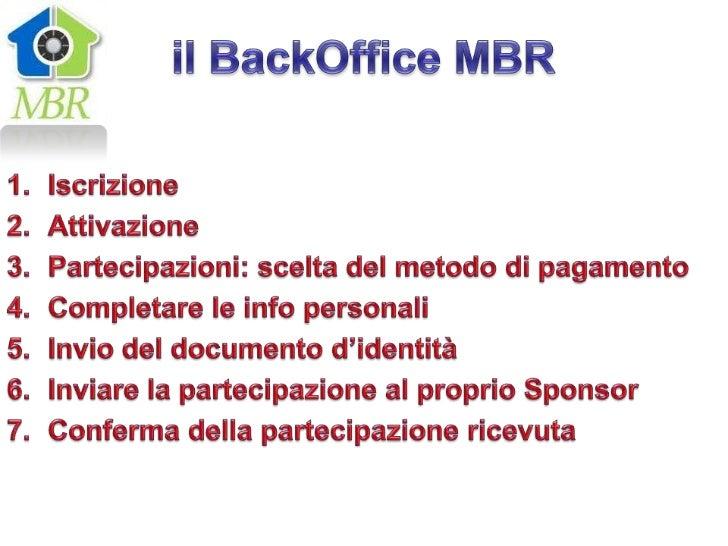 Procedura Guidata Iscrizione MBR