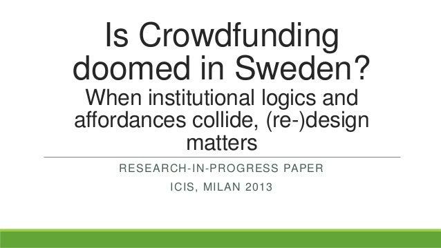 Is crowdfunding doomed in sweden