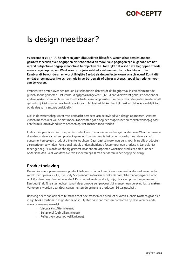 Is design meetbaar?