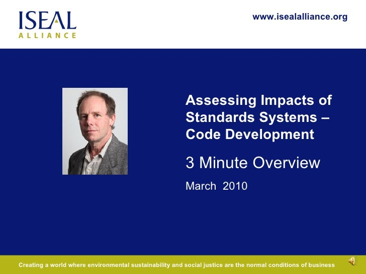 Introduction to the ISEAL Impacts Code