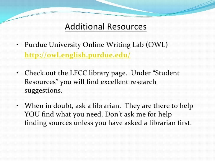 Example Work Cited Page Research Paper