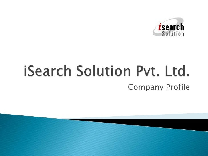 iSearch Solution Company Profile