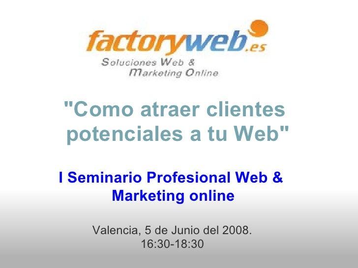 I Seminario Profesional Web