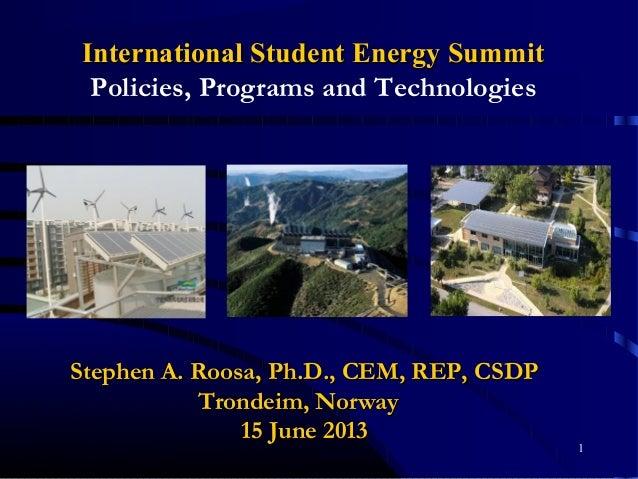 1 Stephen A. Roosa, Ph.D., CEM, REP, CSDPStephen A. Roosa, Ph.D., CEM, REP, CSDP Trondeim, NorwayTrondeim, Norway 15 June ...