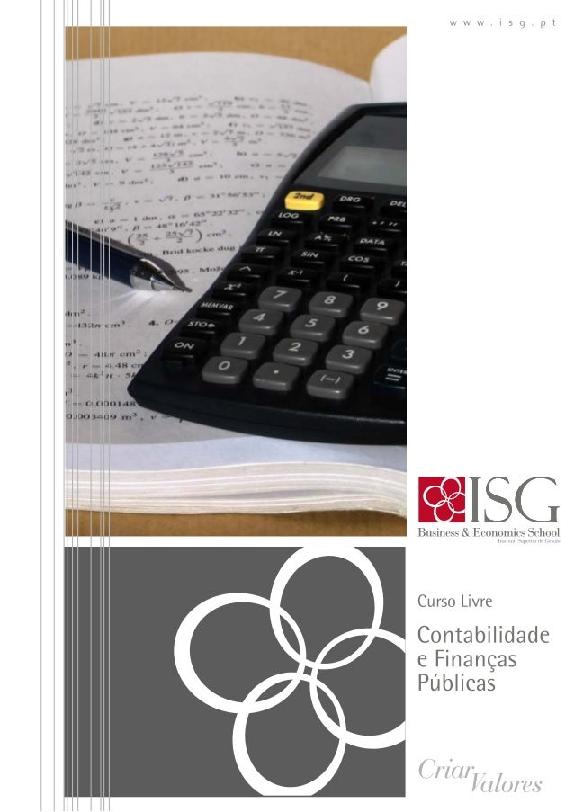 Curso livre em contabilidade e finanças públicas ISG 2014