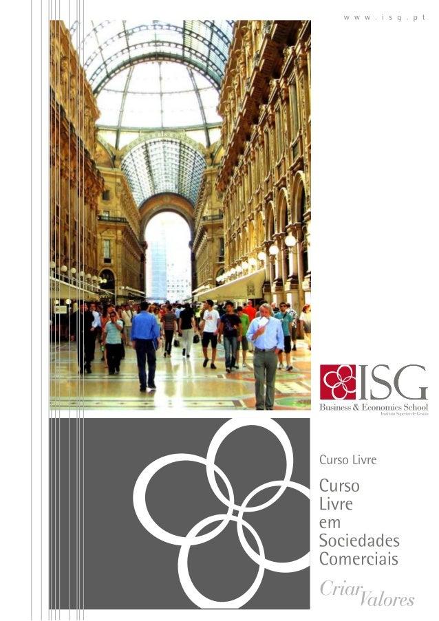 Curso livre sobre sociedades comerciais ISG 2014