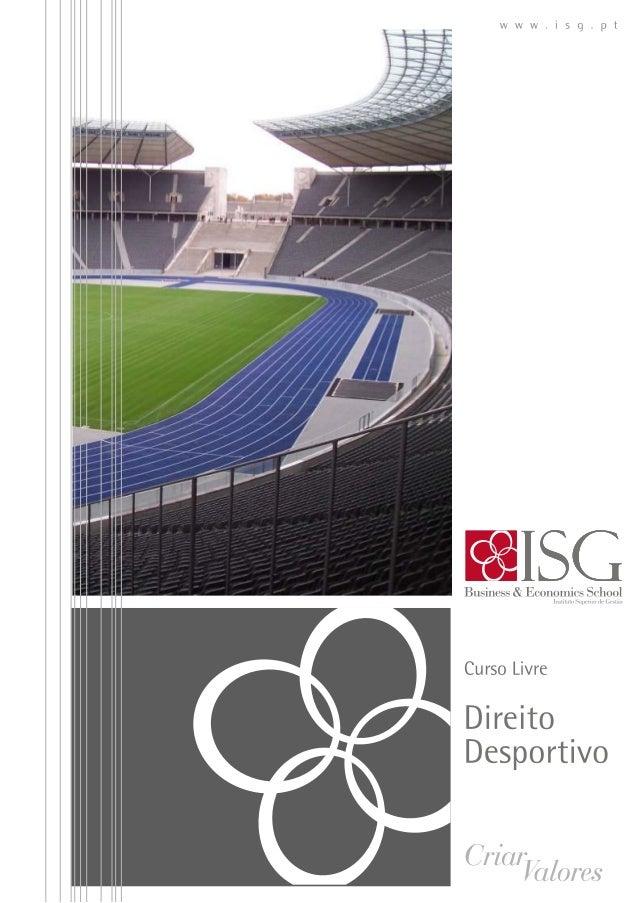 Curso Livre de direito desportivo ISG 2014
