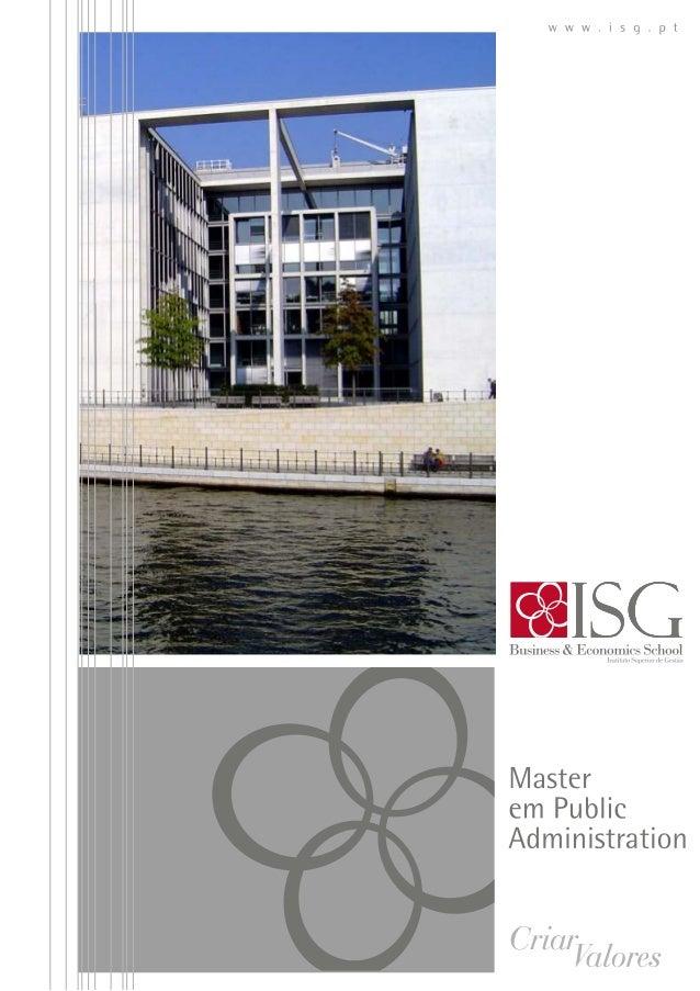 MPA  Master in Public Adminitration ISG 2014