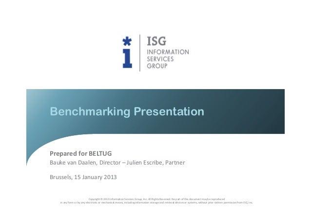 BELTUG Benchmarking Presentation