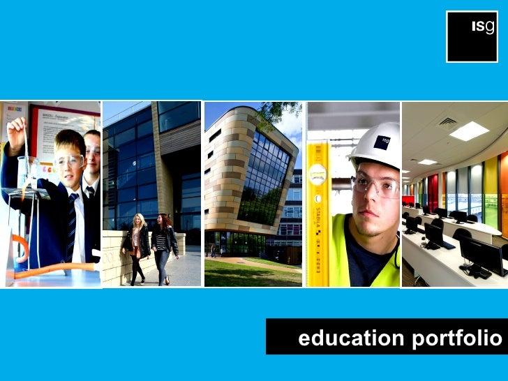 Isg uk education portfolio 18 j uly 2012