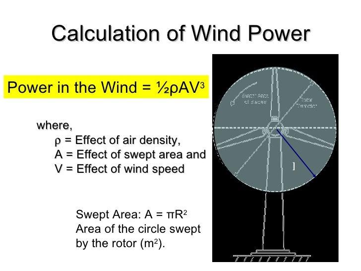 calculation of wind power ul li power in the wind