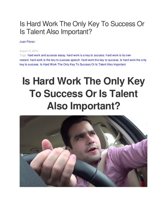 essay on success comes from hard work