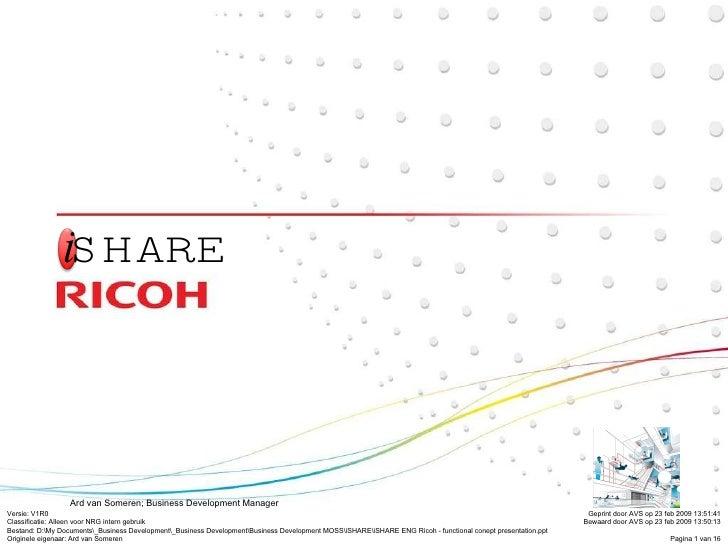 I Share Eng Ricoh   Functional Concept Presentation