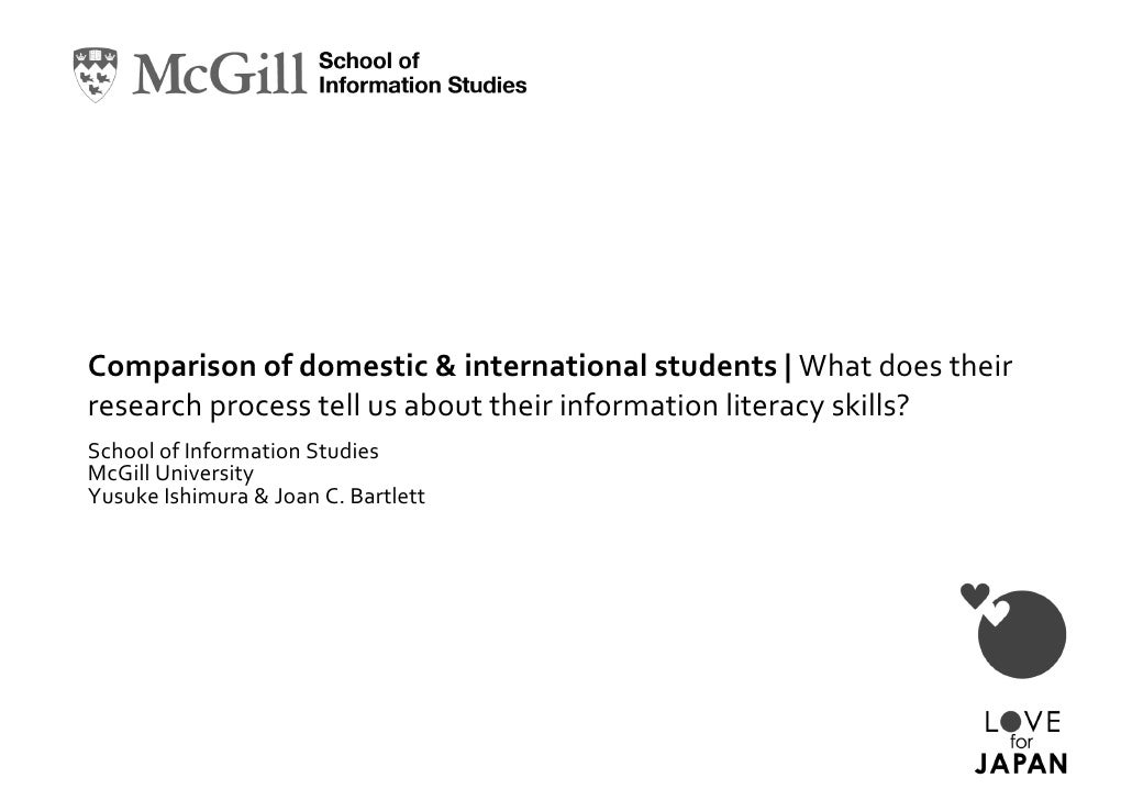 Ishimura & Bartlett - Comparison of domestic and international students: What does their research process tell us about their information literacy skills?