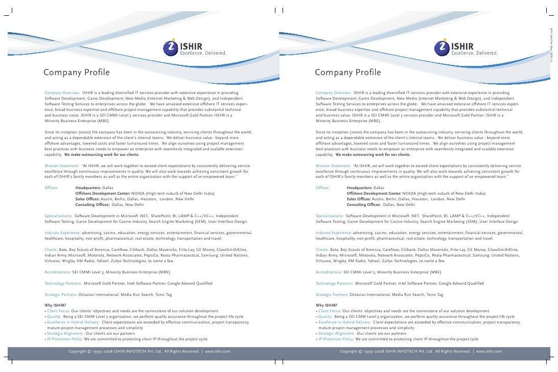Ishir Software Developer Company Profile