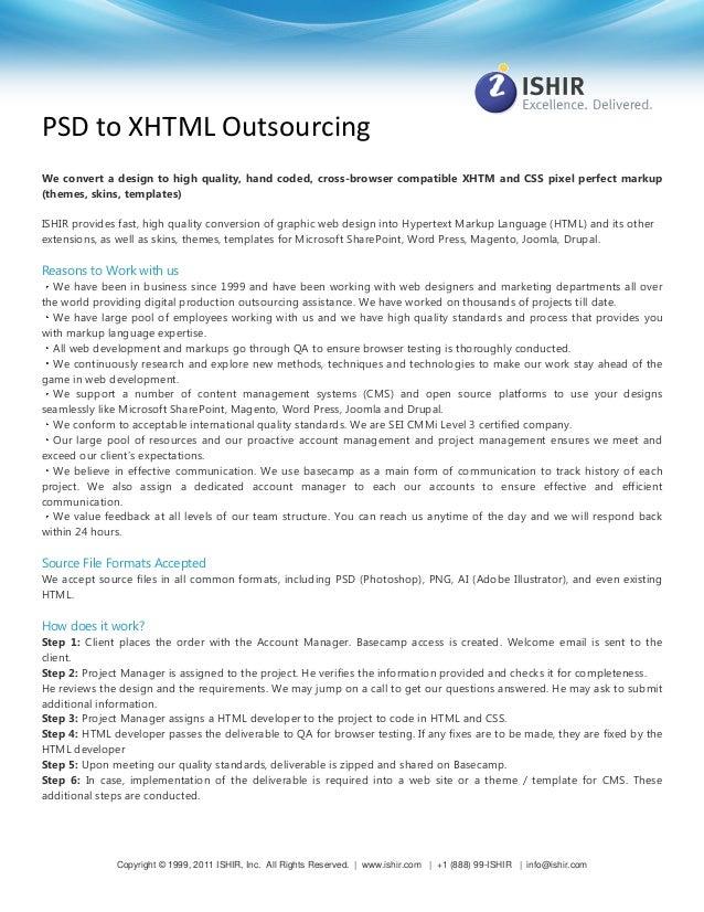 ISHIR: PSD to XHTML Service