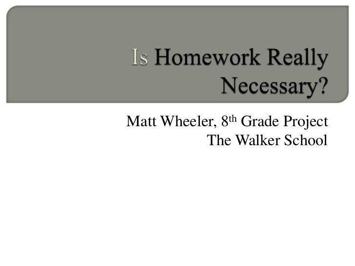 Homework is not necessary