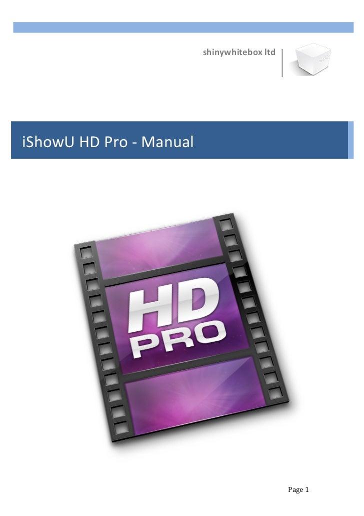 I showu hd pro manual