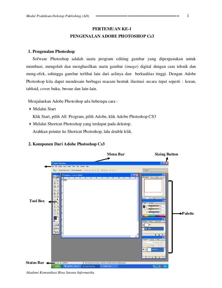 Modul Praktikum Dekstop Publishing (AD)      ==================================         1                                 ...