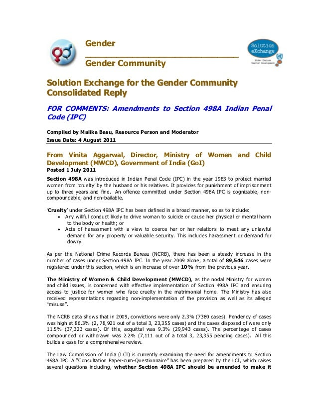 Gender                _____________________________                Gender CommunitySolution Exchange for the Gender Commun...