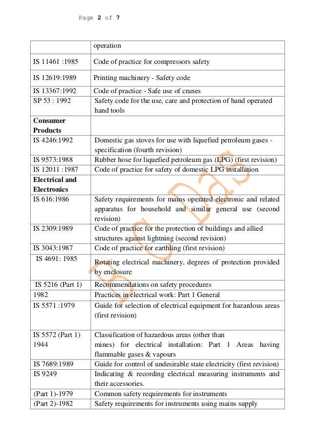 Machinery Health And Safety Machinery Safety Code is