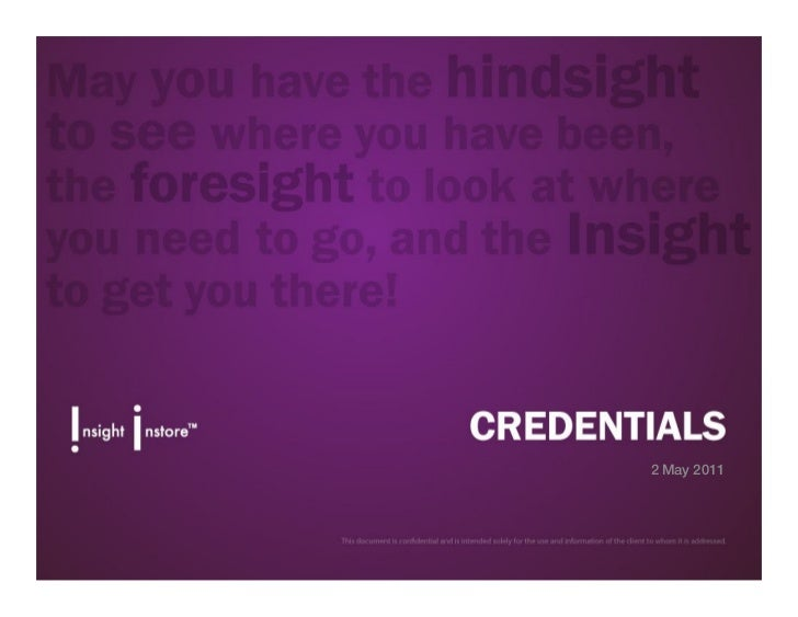 Isis Credentials May 2011