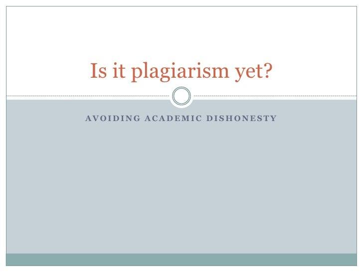 Is It Plagiarism Yet