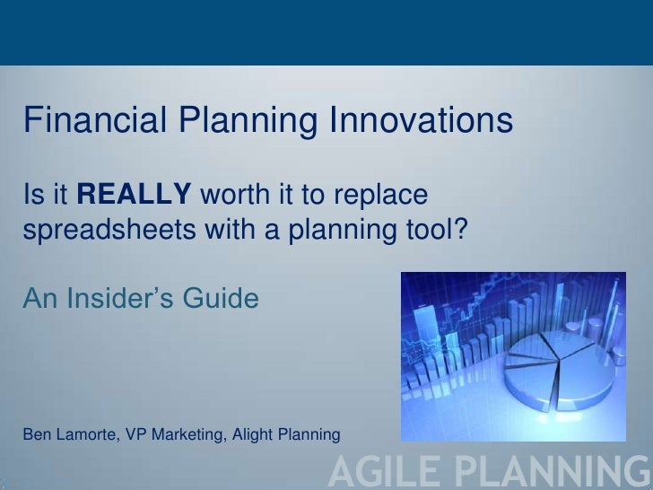 Is it really worth it to replace spreadsheets with a planning tool