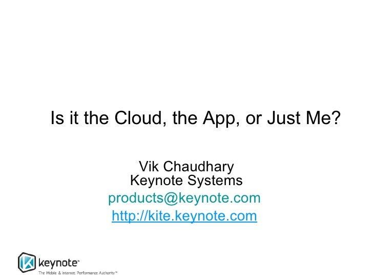 Is It The Cloud, The App, Or Just Me