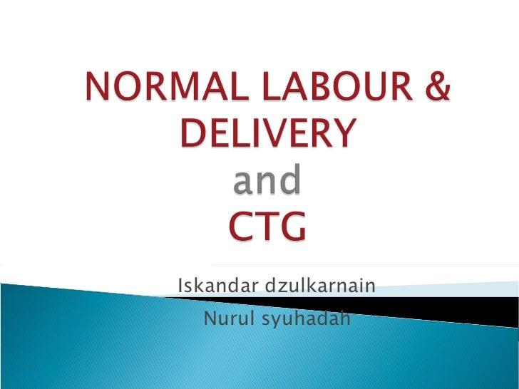 Normal labour presentation by UM