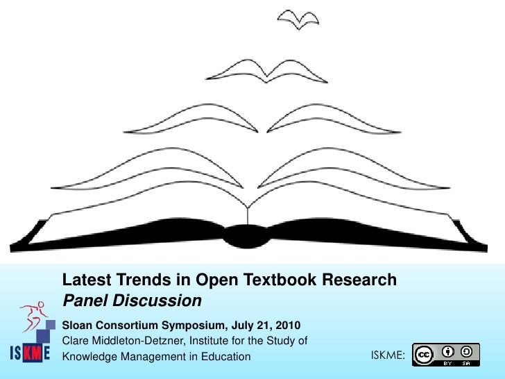 Latest Trends in Open Textbook Research