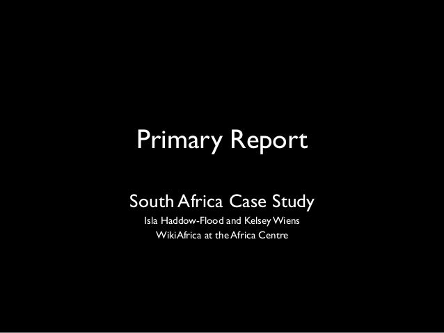 Isla Haddow Flood - Wikipedia Primary School - Case study South Africa