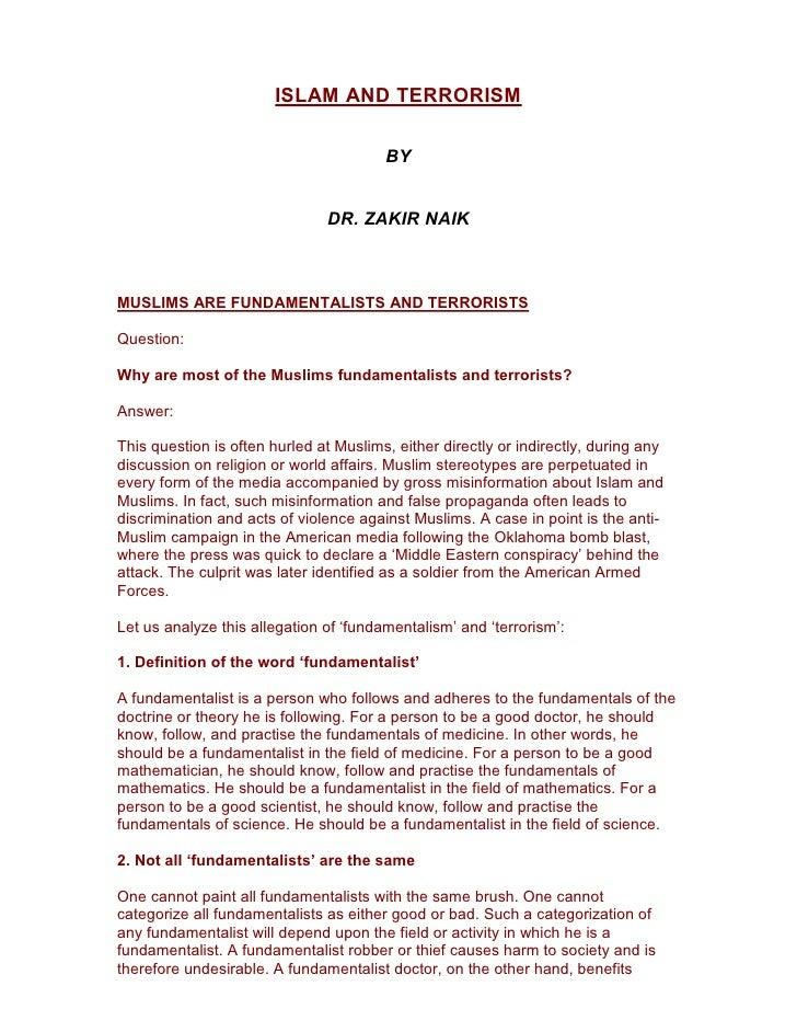 Islam And Terrorism