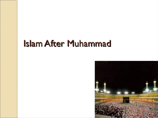 Islam after mohammed