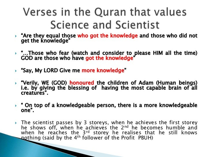 essay on modern science and islam Islam and modern science - if both muslim and christian worldviews affirm a creator, why did modern science not develop within islam nations as it did in western culture.