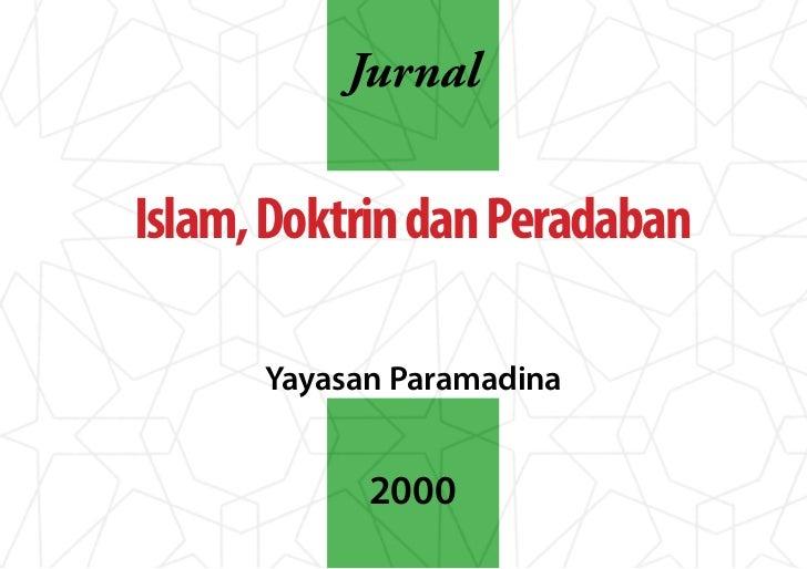 JurnalIslam, Doktrin dan Peradaban      Yayasan Paramadina            2000