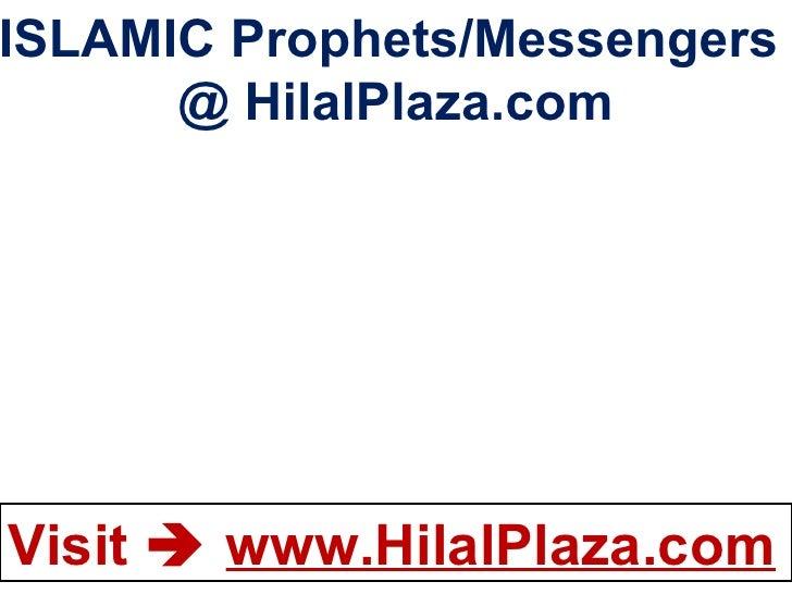 ISLAMIC Prophets/Messengers  @ HilalPlaza.com
