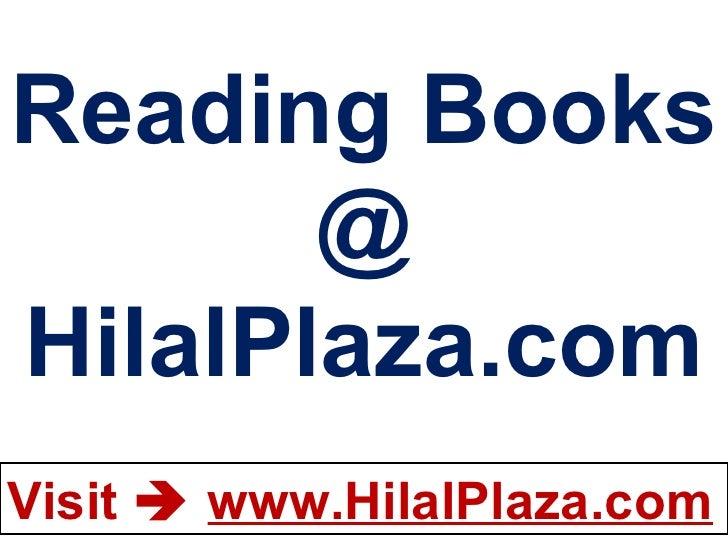 Reading Books @ HilalPlaza.com