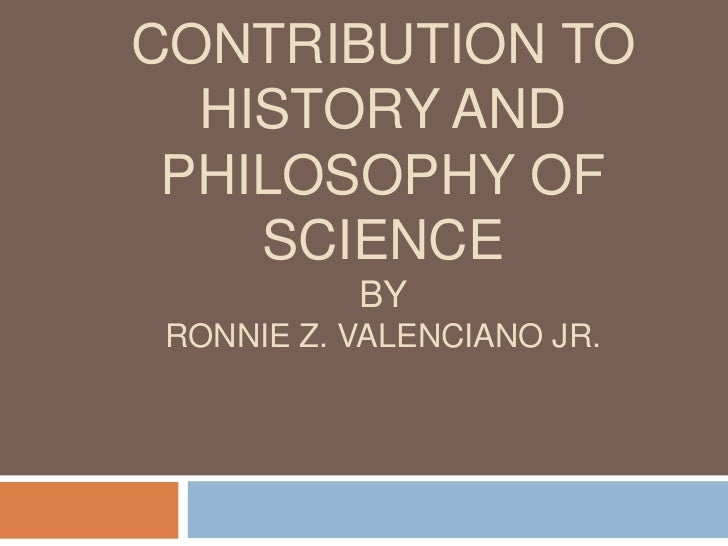 Islamic contribution to history and philosophy of science