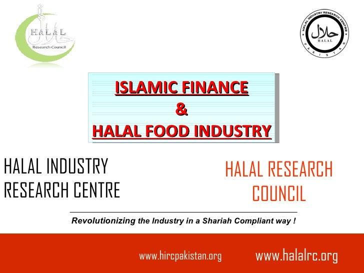 Islamic finance & halal food industry