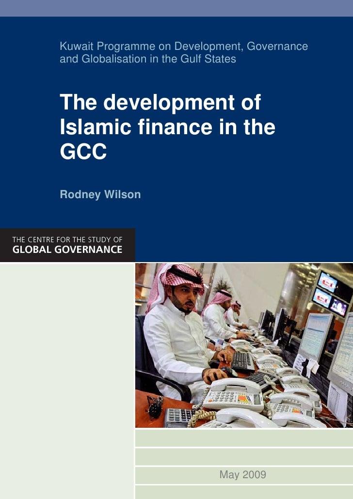 The Development of Islamic Finance in the GCC