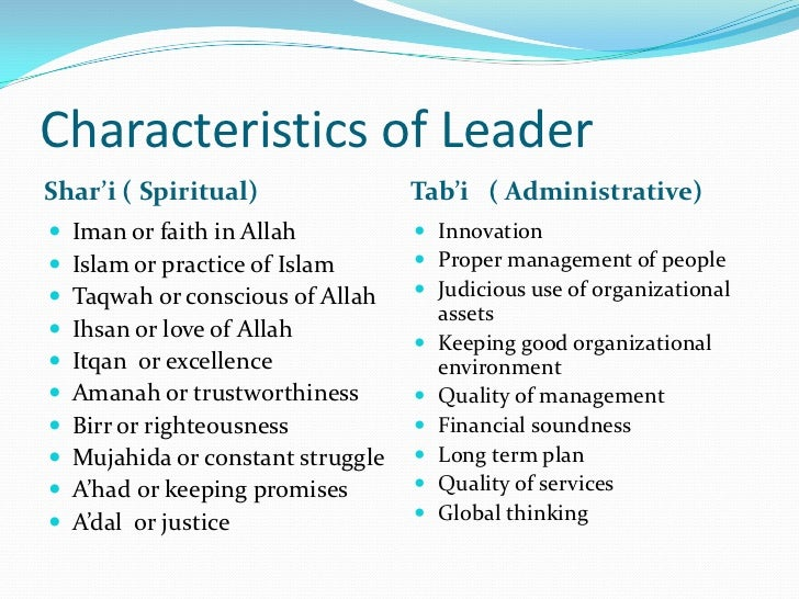 important qualities of a leader essay