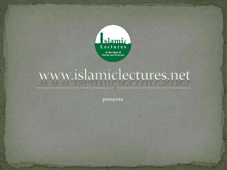 An Introduction to islamiclectures.net