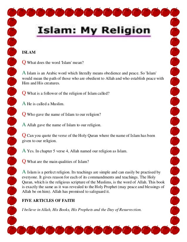 What does the name Islam mean 33
