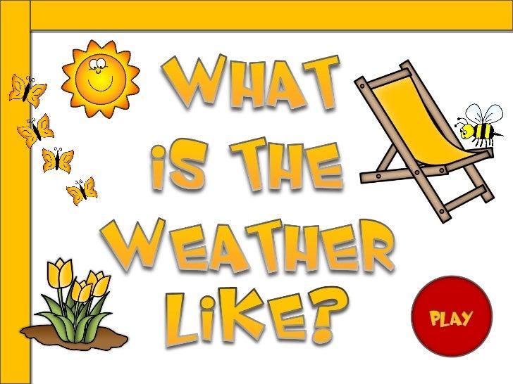 It's rainy. It's rainy.It's sunny.It's sunny.It's cloudy.It's cloudy.It's snowy.It's snowy. It's hot. It's hot. It's cold....