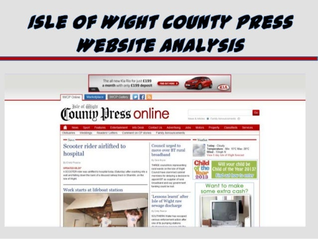 Isle of Wight County Press Website Analysis.