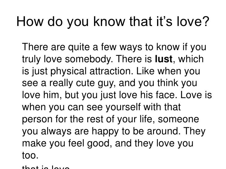 How To Know Your In Love With Him