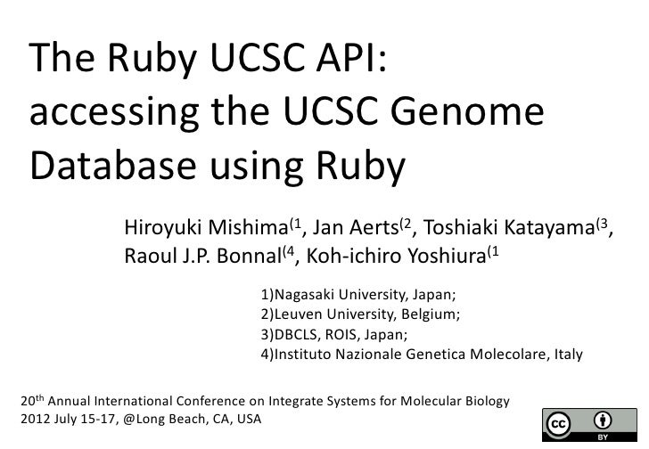 The Ruby UCSC API  @ISMB2012
