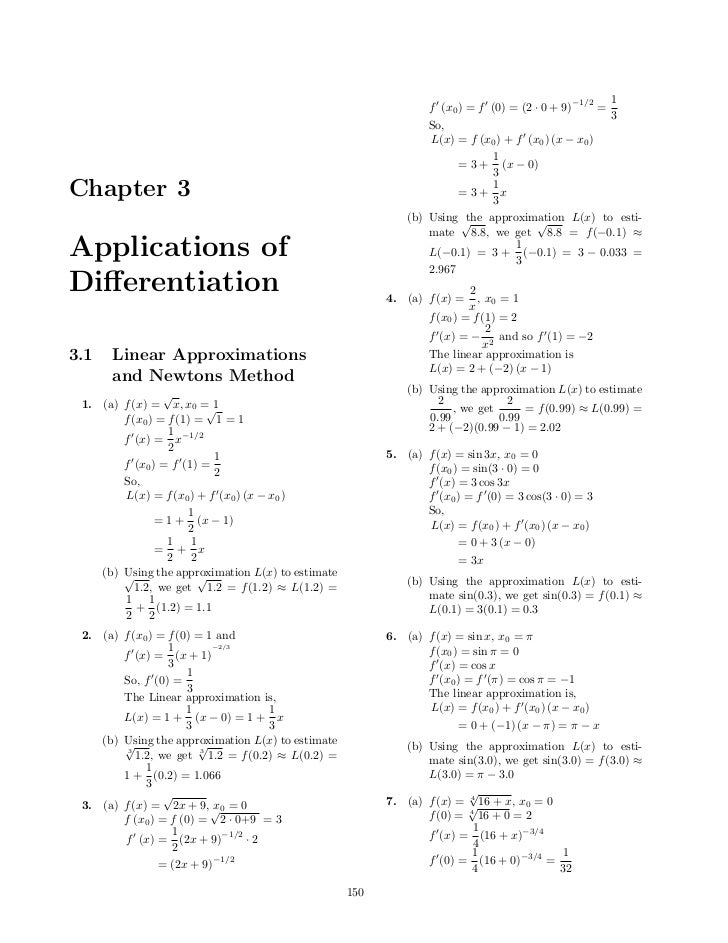 −1/2   1                                                                 f (x0 ) = f (0) = (2 · 0 + 9)      =             ...