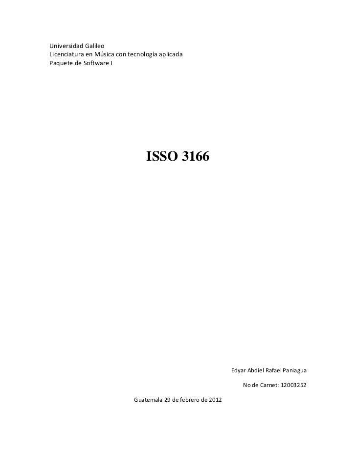 Universidad GalileoLicenciatura en Música con tecnología aplicadaPaquete de Software I                                 ISS...
